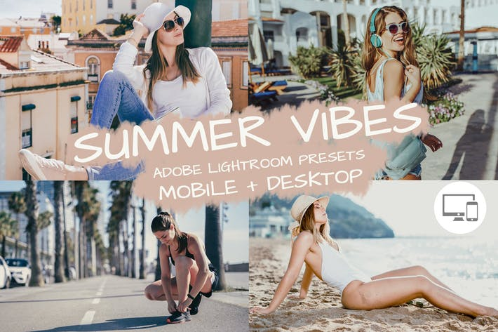 Thumbnail for Paramètres prédéfinis de Lightroom Summer Vibes