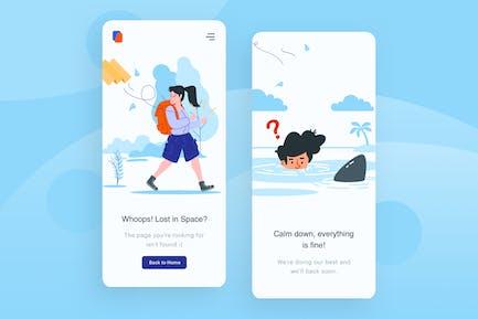 Location Lost - Mobile Apps illustration