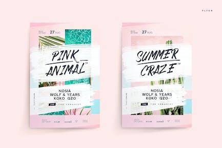 Pink Animal Flyer