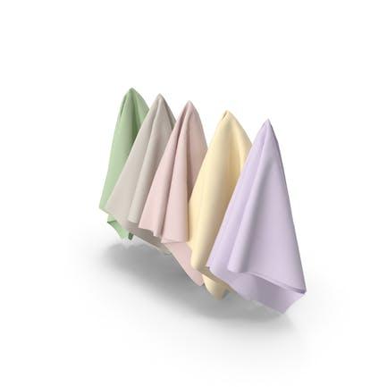 Mehrfarbige Stoffe zum Aufhängen