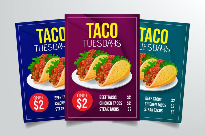 Thumbnail for Taco Tuesdays Flyer Template