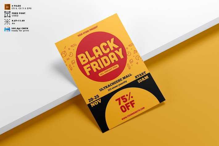 Black Friday Flyer Template Vol. 01