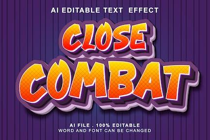 Close Combat 3d Text Effect