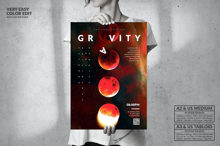 Thumbnail for Gravity Science Conference - Big Poster Design