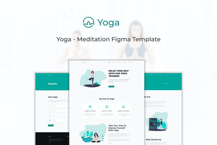 Thumbnail for Yoga - Meditation Website Figma Template