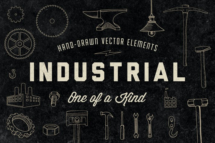 Cover Image For Hand-Drawn Industrial Elements