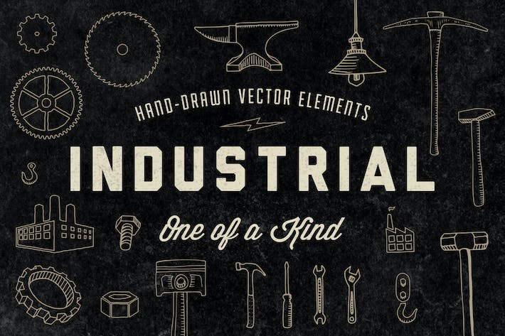 Thumbnail for Hand-Drawn Industrial Elements