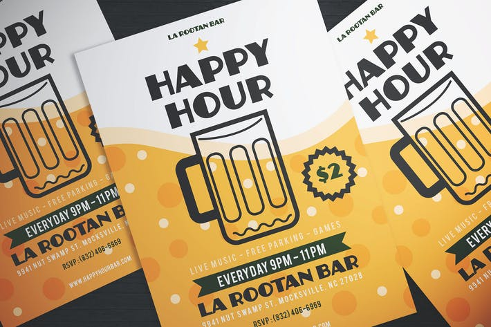 Thumbnail for EINFACHE HAPPY HOUR BER FLYER
