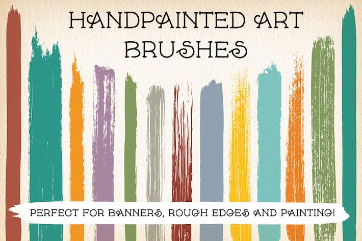 Thumbnail for Pinceles de arte pintados a mano.