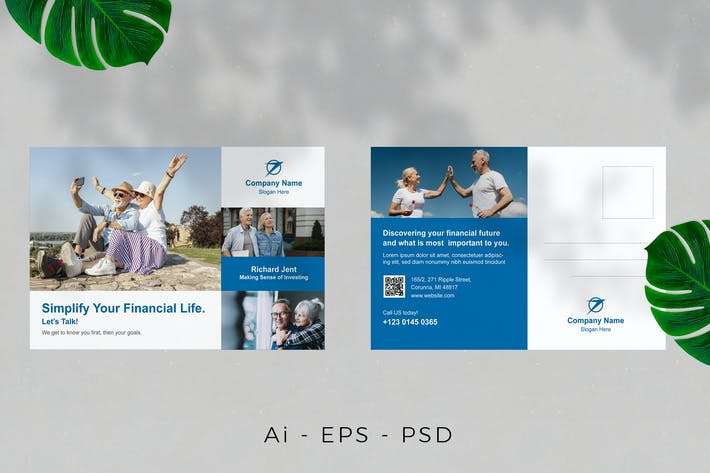 Thumbnail for Marketing Agency Postcard Design