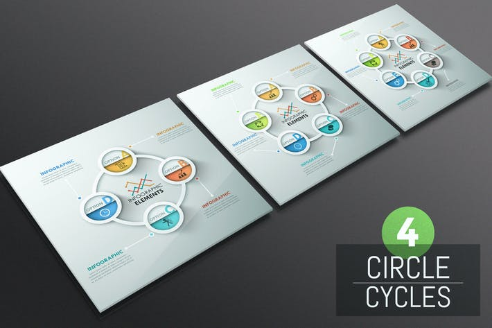 Thumbnail for 4 Circle Cycles Infographics