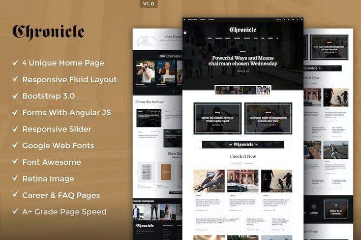 Thumbnail for Chronicle Premium HTML5 Template