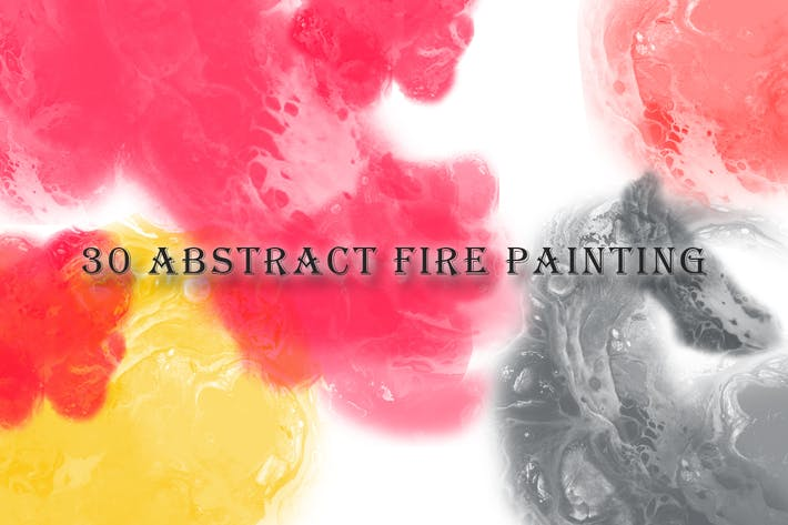 Thumbnail for 30 Abstract Fire Painting Brushes