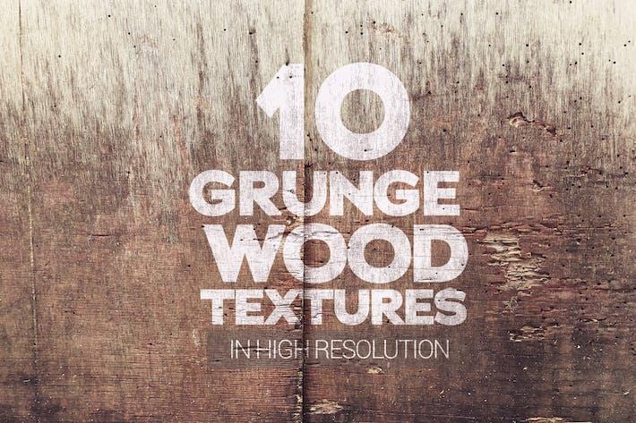 Thumbnail for Grunge Holztexturen, 10 Stück