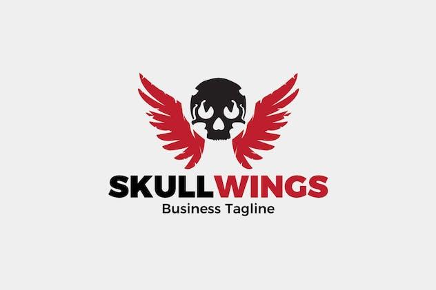 Skull Wings Logo