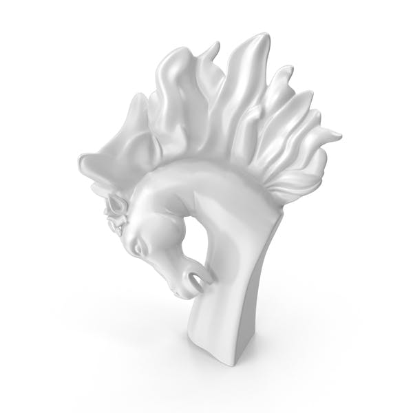 Cover Image for Stallion Bust Statue