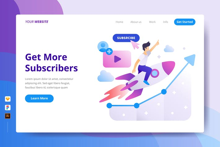 Thumbnail for Get More Subscribers - Landing Page