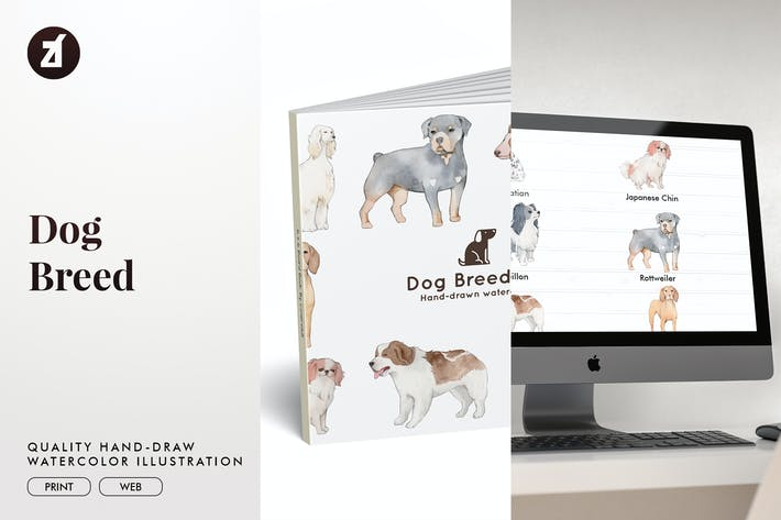 Thumbnail for Dog Breed hand-drawn illustration
