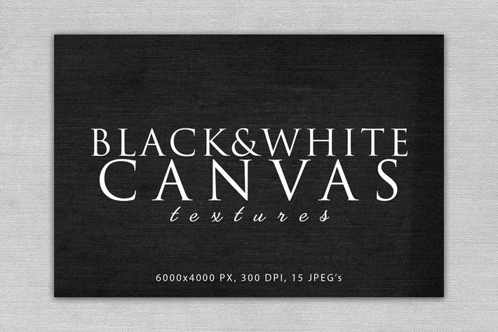 Thumbnail for Black and White Canvas Textures