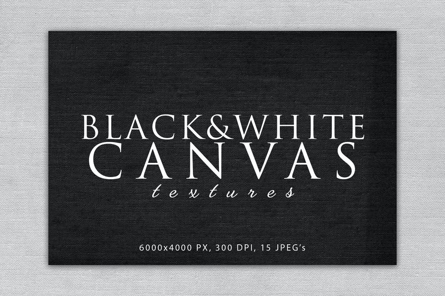 Black and White Canvas Textures