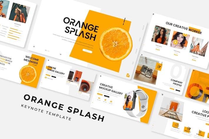 Thumbnail for Orange Splash - Keynote Template