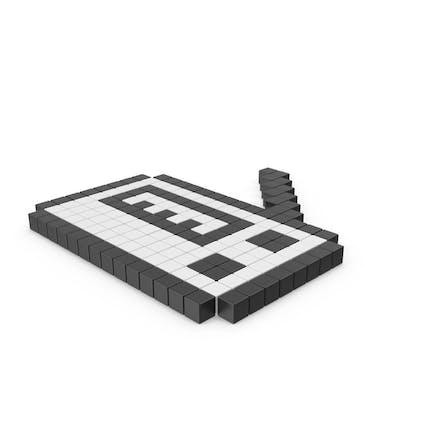 Pixeliertes Symbol für Radioempfänger
