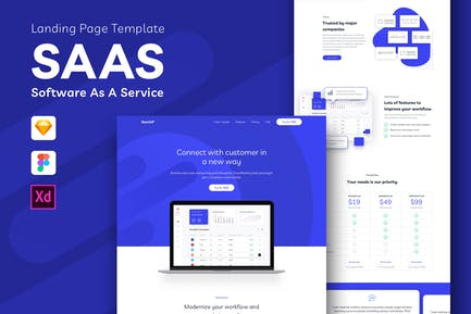 SAAS - Software As A Service Landing Page Template