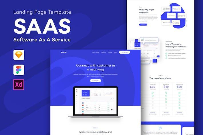 Thumbnail for SAAS - Modèle de page de destination du logiciel en tant que service