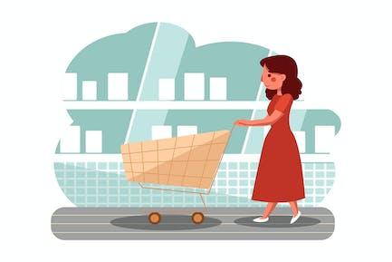Shopping Cart vector illustration concept