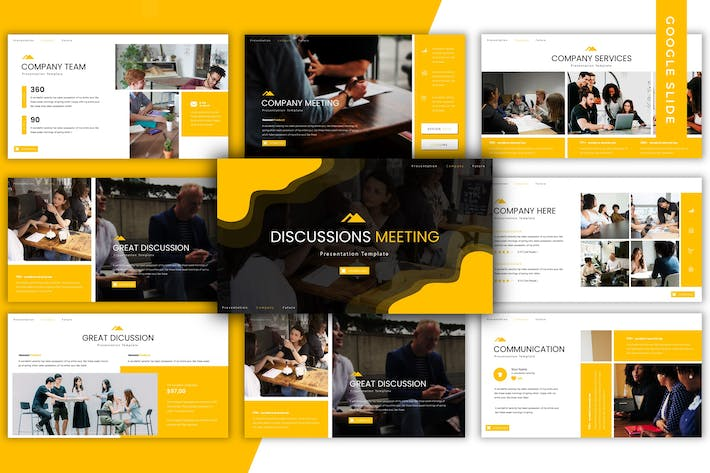 Thumbnail for Discussions Meeting - Google Slide Template