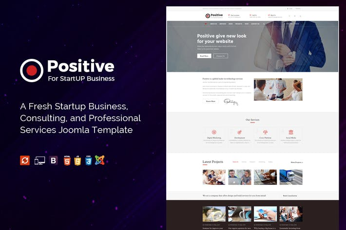 Thumbnail for Positive - Startup Business Modèle Joomla