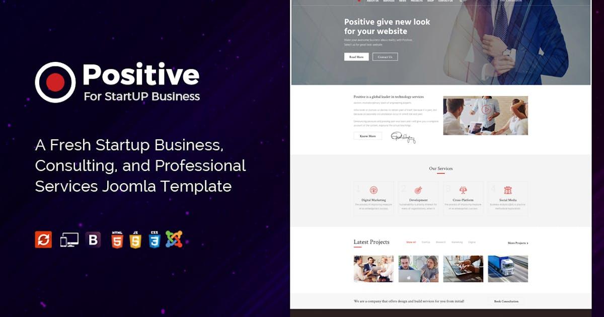 Download Positive - Startup Business Joomla Template by JoomlaBuff