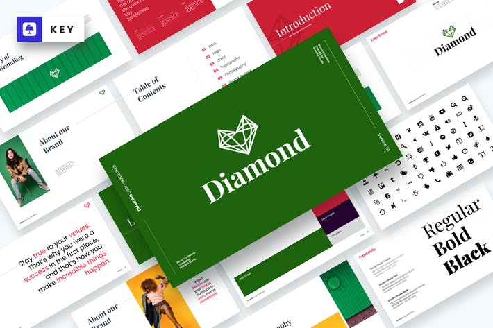 Thumbnail for Diamond - Brand Guidelines Keynote Template