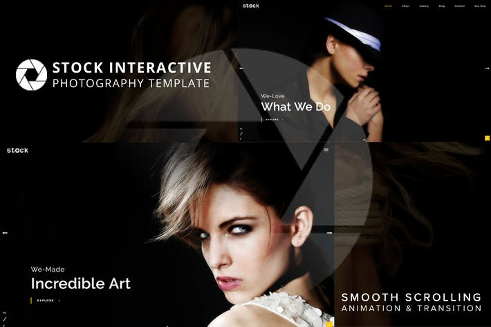 Thumbnail for Stock | Interactive Photography Template