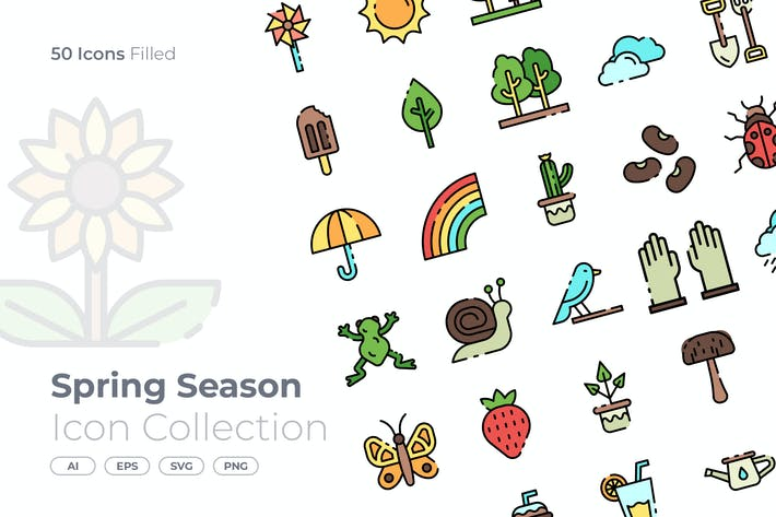 Thumbnail for Frühlingssaison gefülltes Symbol