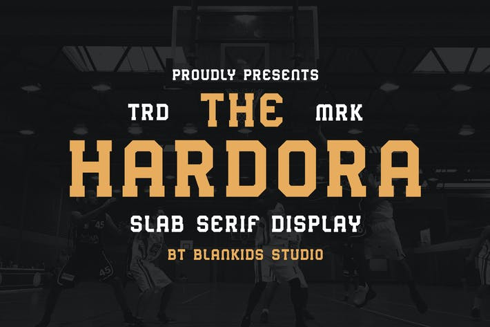 Thumbnail for Hardora - Slab Serif Display Typeface