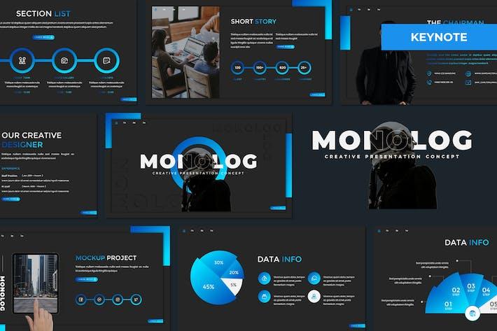 Монолог - Многоцелевой Шаблон Keynote