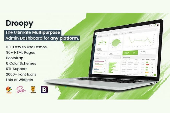 Thumbnail for Droopy - Multipurpose Bootstrap Admin Dashboard