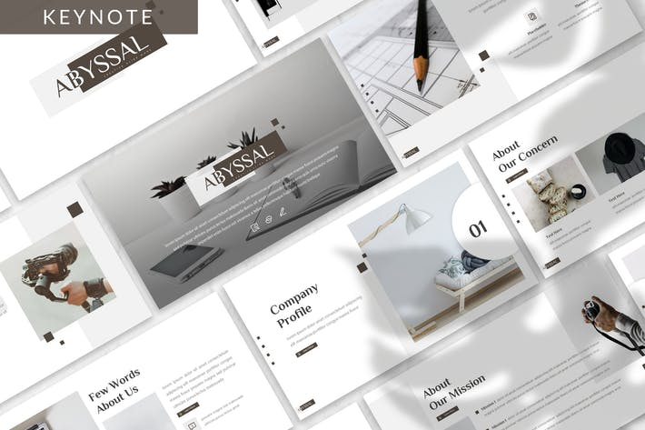 Cover Image For Abyssal - Business Keynote Template
