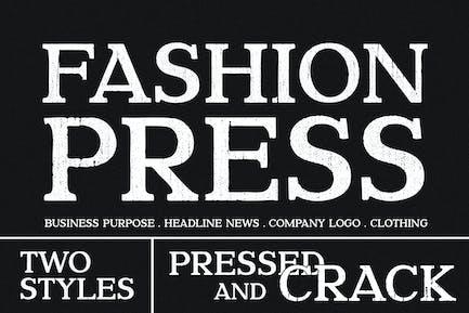 Fashion Pressed Advertisement Font