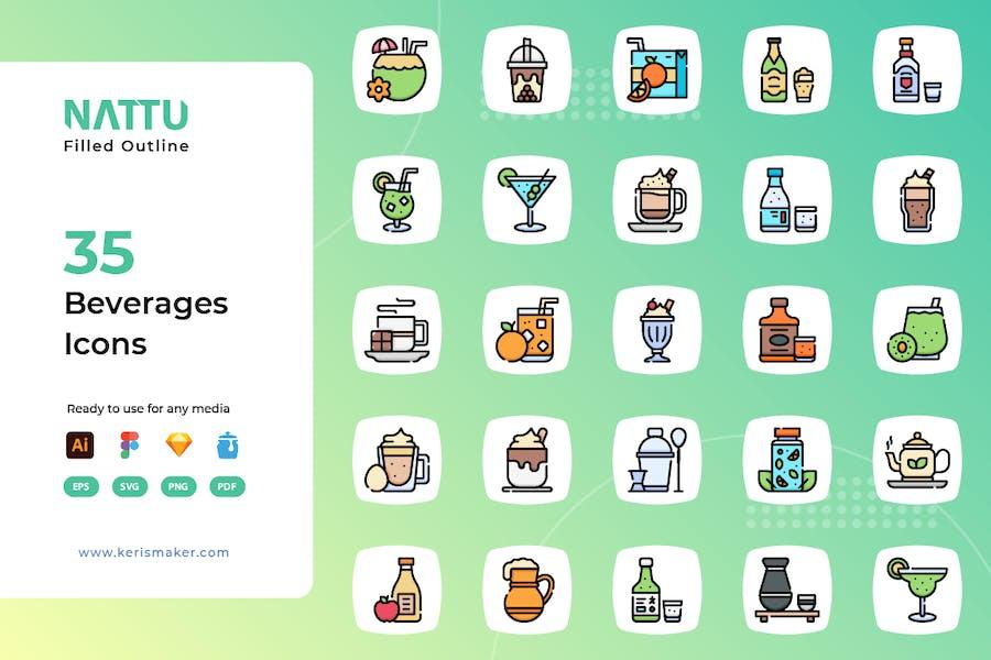 Nattu - Beverages Icons
