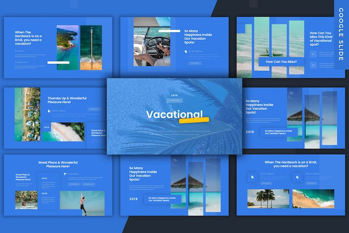 Thumbnail for Vacational  - Google Slides Template