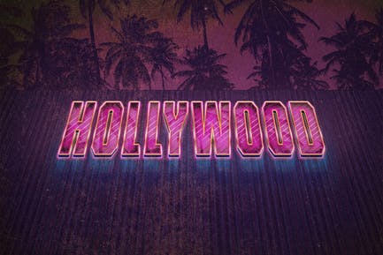 The 80s Retro Text Effect