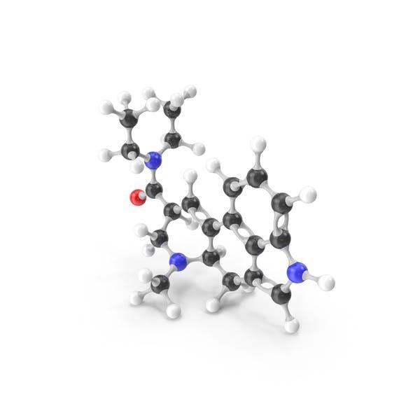 Молекулярная модель ЛСД