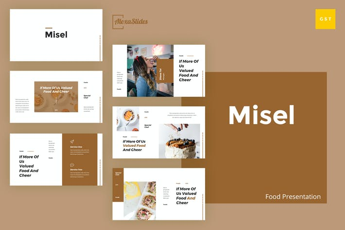Thumbnail for Misel - Food Google Slides Presentation Template