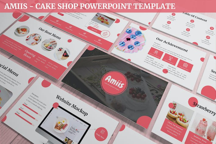 Thumbnail for Amiis - CakeShop Powerpoint Template