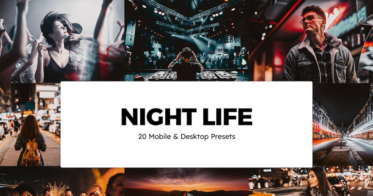 Download 20 Night Life Lightroom Presets & LUTs by sparklestock