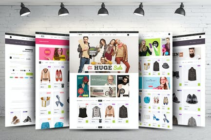 eCommerce Web Template - PSD