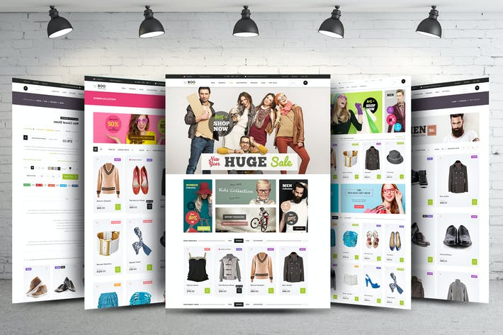 Thumbnail for eCommerce Web Template - PSD