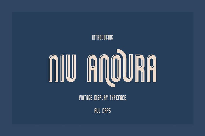 Thumbnail for Niu Anoura - Typeface AA